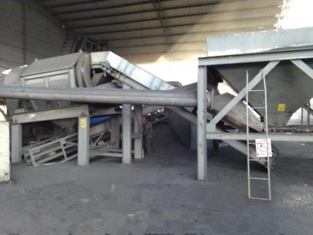 新型兰炭筛分、直接进料仓系统设备